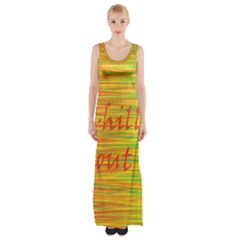 Chill out Maxi Thigh Split Dress