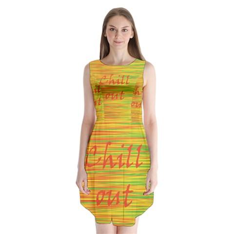 Chill out Sleeveless Chiffon Dress