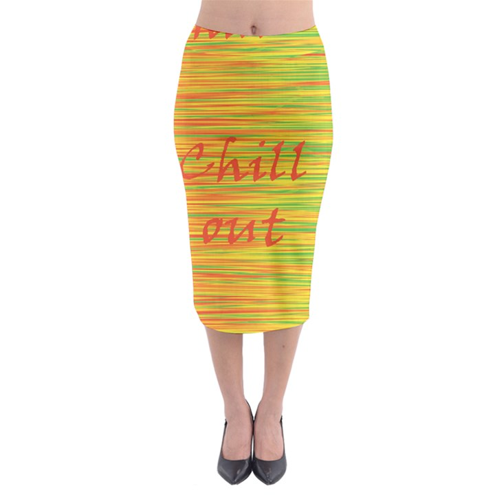 Chill out Midi Pencil Skirt