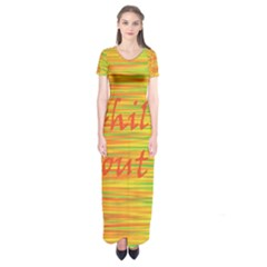 Chill Out Short Sleeve Maxi Dress