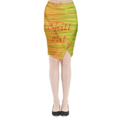 Chill out Midi Wrap Pencil Skirt