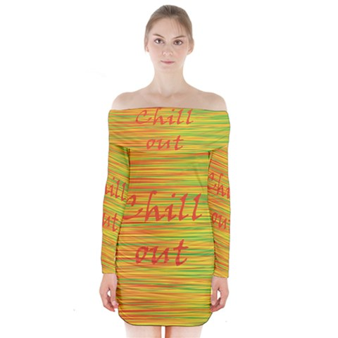 Chill out Long Sleeve Off Shoulder Dress