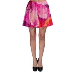 Geometric Magenta Garden Skater Skirt