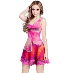 Geometric Magenta Garden Reversible Sleeveless Dress