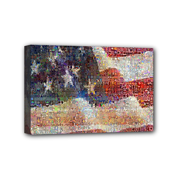 Grunge United State Of Art Flag Mini Canvas 6  x 4