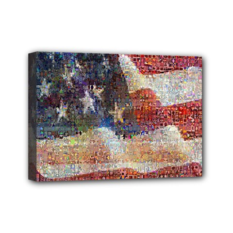 Grunge United State Of Art Flag Mini Canvas 7  x 5