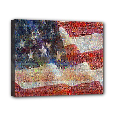 Grunge United State Of Art Flag Canvas 10  x 8