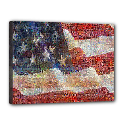 Grunge United State Of Art Flag Canvas 16  x 12