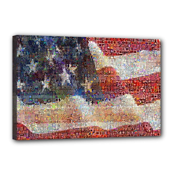 Grunge United State Of Art Flag Canvas 18  x 12
