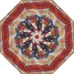 Grunge United State Of Art Flag Folding Umbrellas