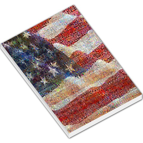 Grunge United State Of Art Flag Large Memo Pads
