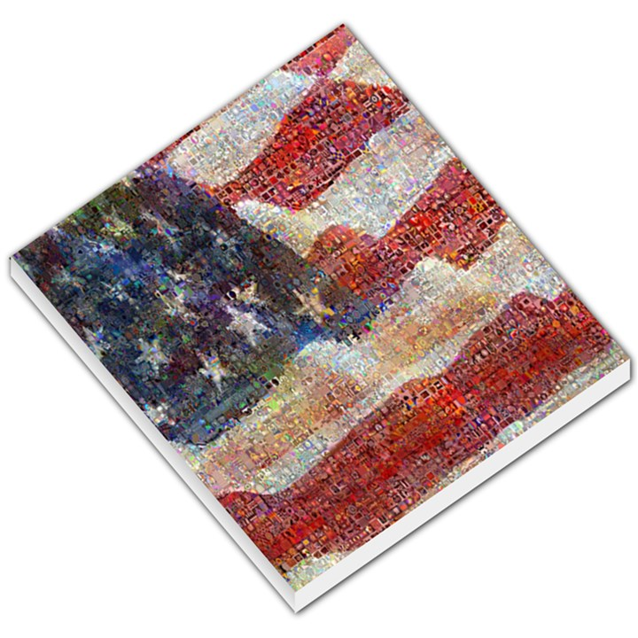 Grunge United State Of Art Flag Small Memo Pads