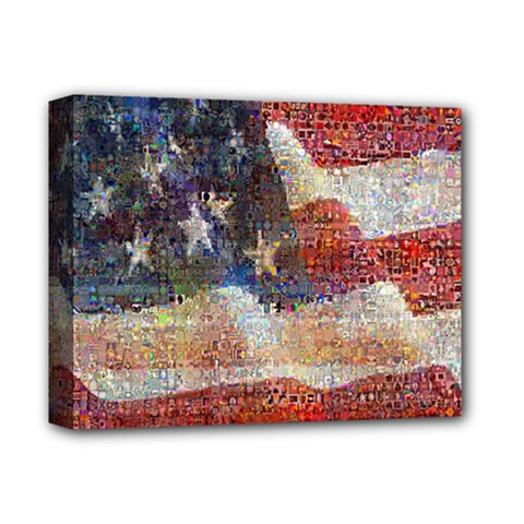 Grunge United State Of Art Flag Deluxe Canvas 14  x 11