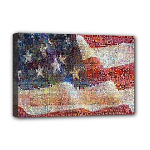 Grunge United State Of Art Flag Deluxe Canvas 18  x 12
