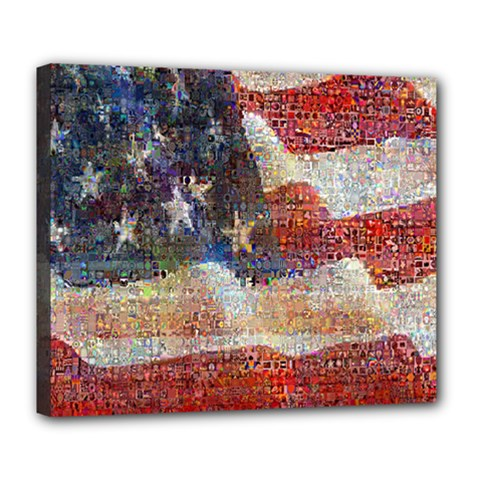 Grunge United State Of Art Flag Deluxe Canvas 24  x 20