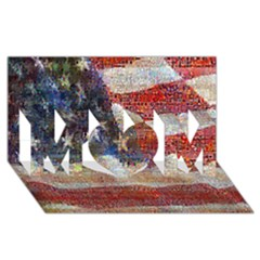 Grunge United State Of Art Flag MOM 3D Greeting Card (8x4)