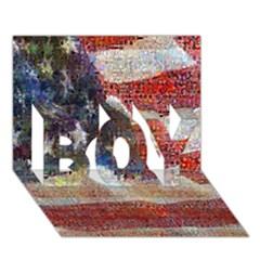 Grunge United State Of Art Flag BOY 3D Greeting Card (7x5)
