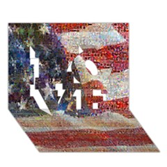 Grunge United State Of Art Flag LOVE 3D Greeting Card (7x5)