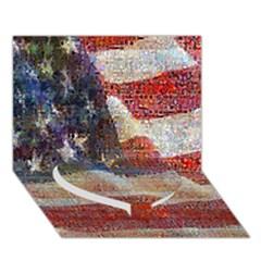 Grunge United State Of Art Flag Heart Bottom 3D Greeting Card (7x5)