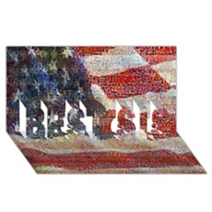Grunge United State Of Art Flag BEST SIS 3D Greeting Card (8x4)