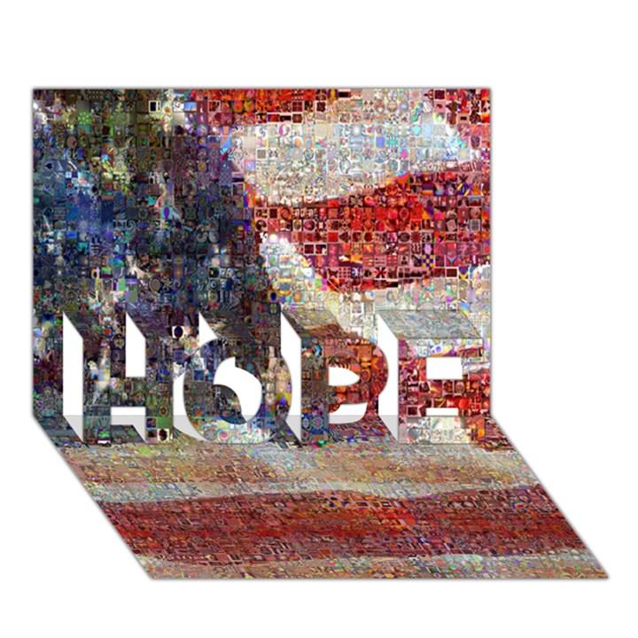 Grunge United State Of Art Flag HOPE 3D Greeting Card (7x5)