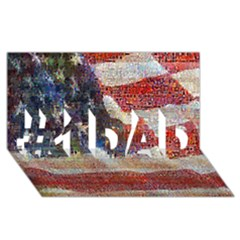 Grunge United State Of Art Flag #1 DAD 3D Greeting Card (8x4)