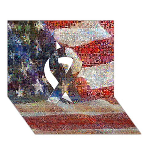Grunge United State Of Art Flag Ribbon 3D Greeting Card (7x5)
