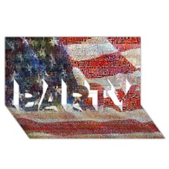 Grunge United State Of Art Flag PARTY 3D Greeting Card (8x4)