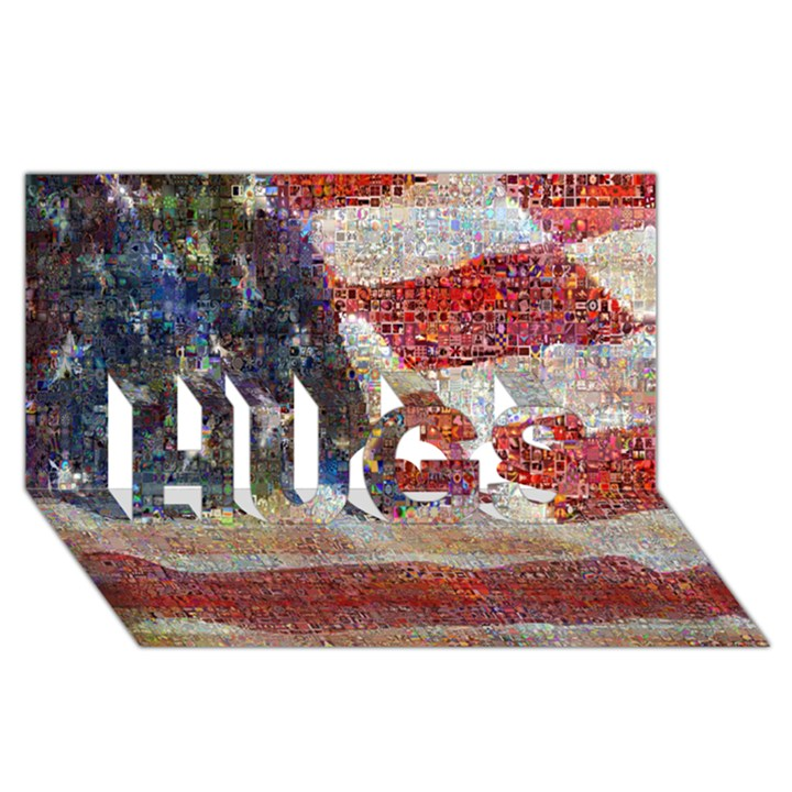 Grunge United State Of Art Flag HUGS 3D Greeting Card (8x4)