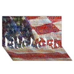 Grunge United State Of Art Flag ENGAGED 3D Greeting Card (8x4)