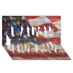 Grunge United State Of Art Flag Laugh Live Love 3D Greeting Card (8x4)