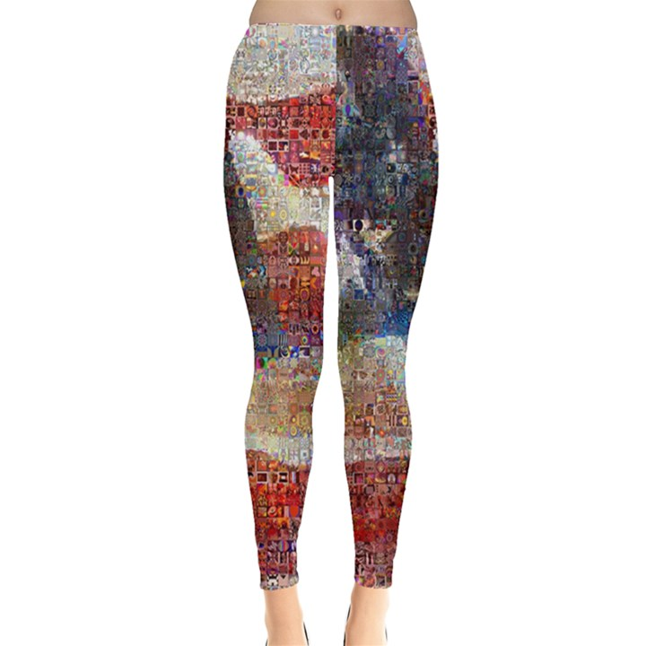 Grunge United State Of Art Flag Leggings