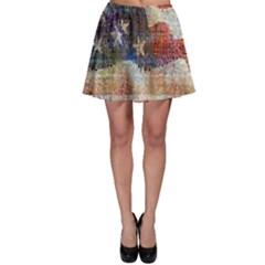 Grunge United State Of Art Flag Skater Skirt