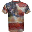 Grunge United State Of Art Flag Men s Cotton Tee View1
