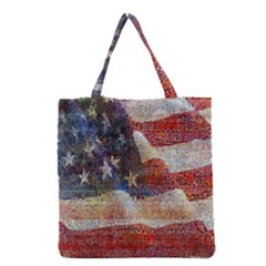 Grunge United State Of Art Flag Grocery Tote Bag