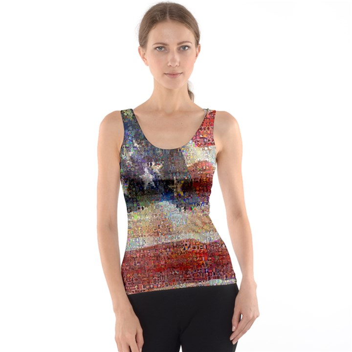 Grunge United State Of Art Flag Tank Top