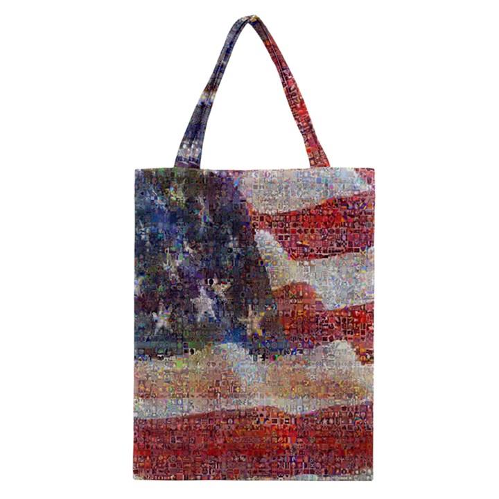 Grunge United State Of Art Flag Classic Tote Bag