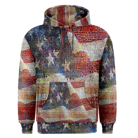 Grunge United State Of Art Flag Men s Pullover Hoodie