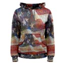 Grunge United State Of Art Flag Women s Pullover Hoodie View1
