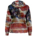 Grunge United State Of Art Flag Women s Pullover Hoodie View2