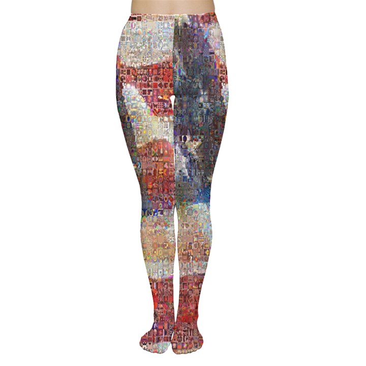 Grunge United State Of Art Flag Women s Tights