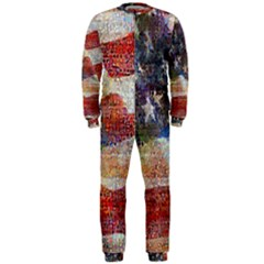 Grunge United State Of Art Flag OnePiece Jumpsuit (Men)