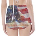 Grunge United State Of Art Flag High-Waisted Bikini Bottoms View2