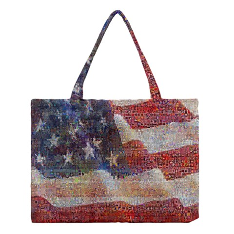 Grunge United State Of Art Flag Medium Tote Bag