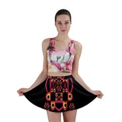 LETTER R Mini Skirt