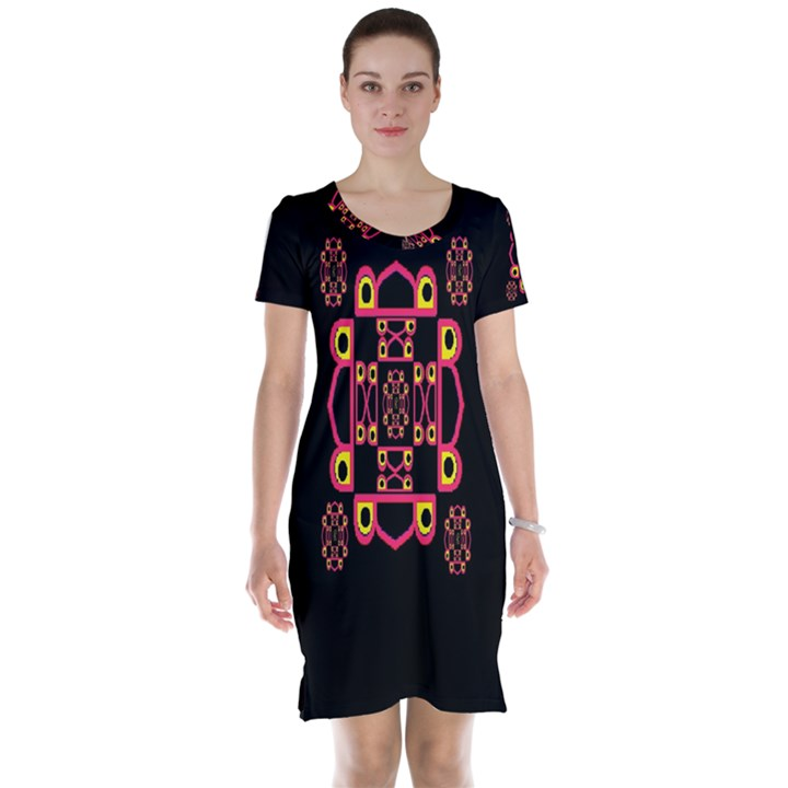 LETTER R Short Sleeve Nightdress