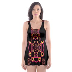 LETTER R Skater Dress Swimsuit