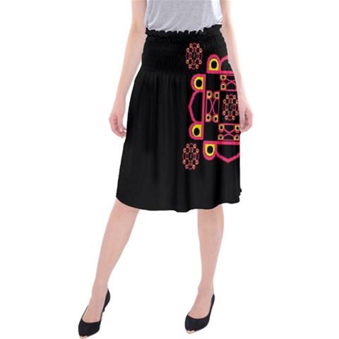 LETTER R Midi Beach Skirt