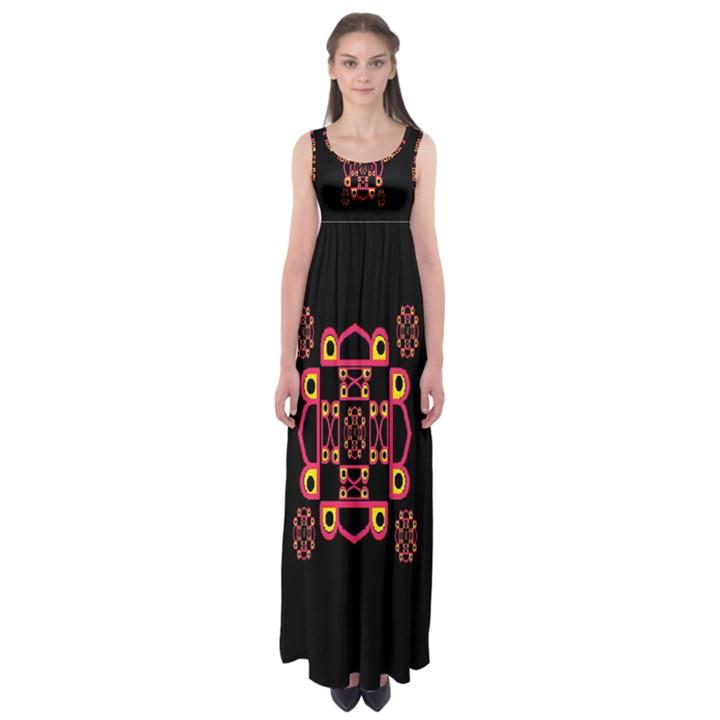LETTER R Empire Waist Maxi Dress