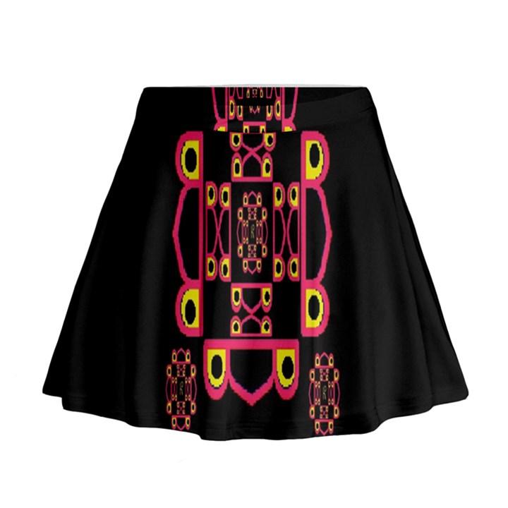 LETTER R Mini Flare Skirt